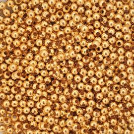 Kraaltje rond goud - ca. 3mm