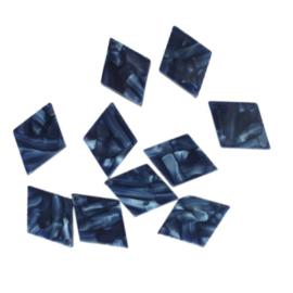 Resin hanger ruit blauw