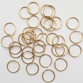 Buigringen goud 10 stuks - 14mm