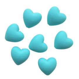 Siliconen hart aquablauw