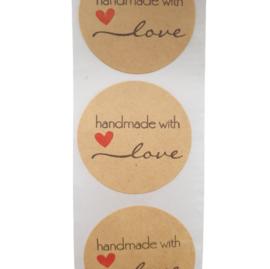 Sticker handmade with love sierlijk