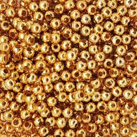 Kraaltje rond goud - ca. 4mm