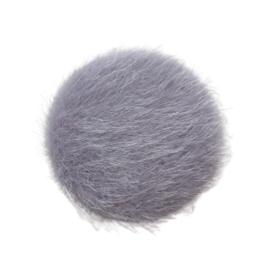 Cabochon bont grijs XL - 35mm