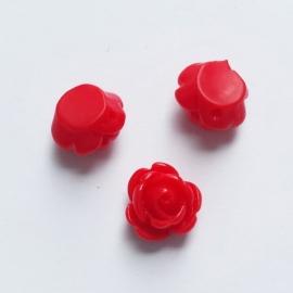 Roosje rood - ca.11mm