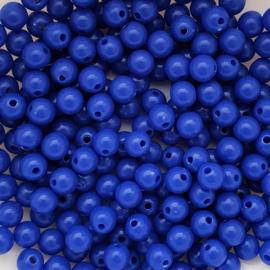 Acryl kraal koningsblauw - ca. 6mm