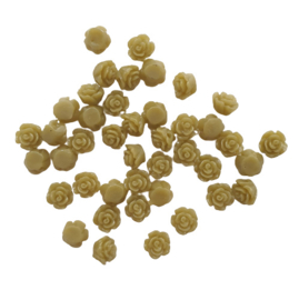 Resin roosje mini olijfgroen