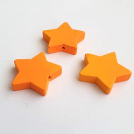 Houten ster oranje