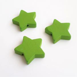 Houten ster groen