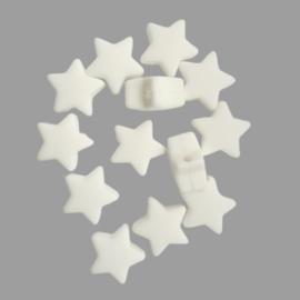 Siliconen sterretje wit - ca. 14mm