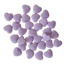 Acryl kraal hart paars