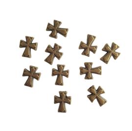 Kraal kruis brons