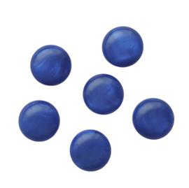 Polaris cabochon mosso shiny princess blue - 12mm