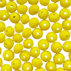 Facetkraal disc geel - 8x6mm