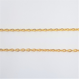Schakelketting ovaal goud - 2mm