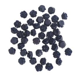 Resin roosje mini nachtblauw