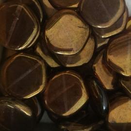 Schrijf brons-topaz - 17mm