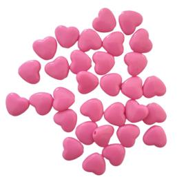Acryl kraal hart roze