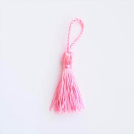 Kwastje zijde roze - ca. 40mm