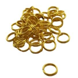 Dubbel ringetje goudkleur - 8mm
