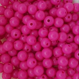 Acryl kraal hot pink - ca. 8mm