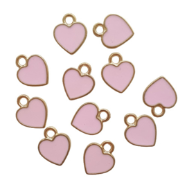 Bedel hartje goud/roze