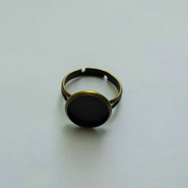 Ring brons voor cabochon 12mm
