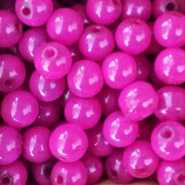 KPR66 Ronde glaskraal roze - 8mm