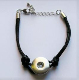 Armband met zwart waxdraad