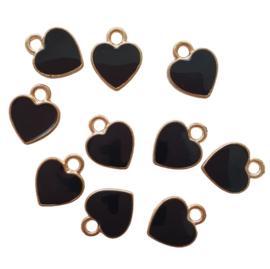 Bedel hartje goud/zwart