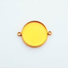 Setting / tussenstuk goud voor 20mm cabochon