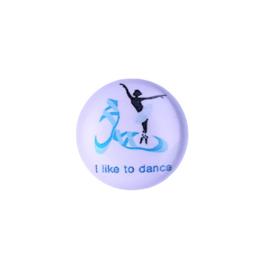 Cabochon I like to dance - 16mm