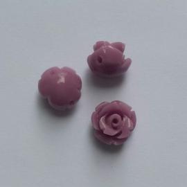 Acryl roosje lilaroze - ca. 8mm