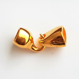 DQ haaksluiting voor divino leer goud