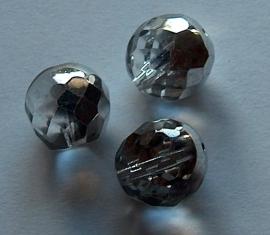 KZW28 Facetkraal helder-zilver 12mm