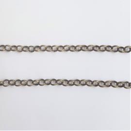 Schakelketting (jasseron) brons - 4mm