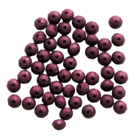 Acryl facetkraal disc dark purple