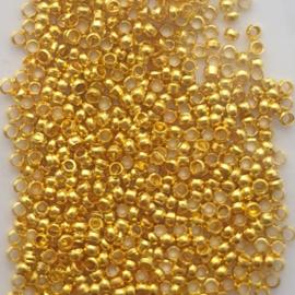 Knijpkraaltjes goud - 2mm