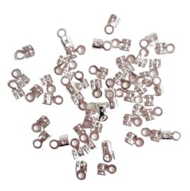 Veterklemmetje zilverkleur - 5mm breed