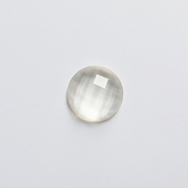 Cabochon crystal white - 15mm