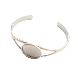 Armband voor 20mm cabochon zilver