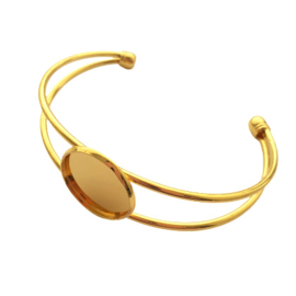 Armband voor 20mm cabochon goud