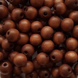 Houten kraal bruin - ca. 8mm