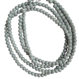 Glaskraaltje grijs - ca. 4mm