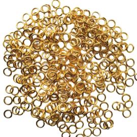 Buigringetjes stevig goud per 10 stuks - 6mm