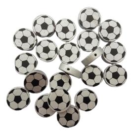 Houten kraal voetbal zilver