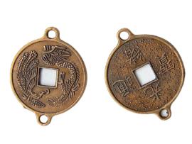 Metalen munt Azië brons