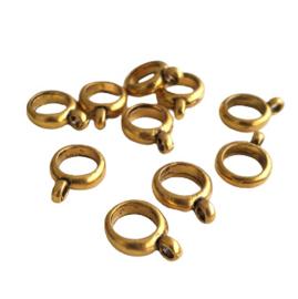 Metalen ring met oogje antiek-goud