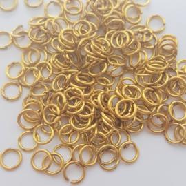Buigringetjes antiek-goud 10 stuks - 6mm