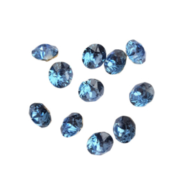 Puntsteen clear blue SS39 (8mm)