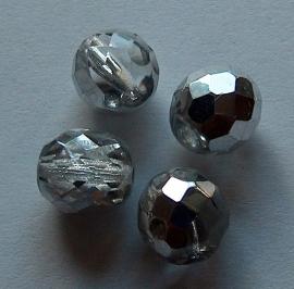 KZW27 Facetkraal helder-zilver 10mm